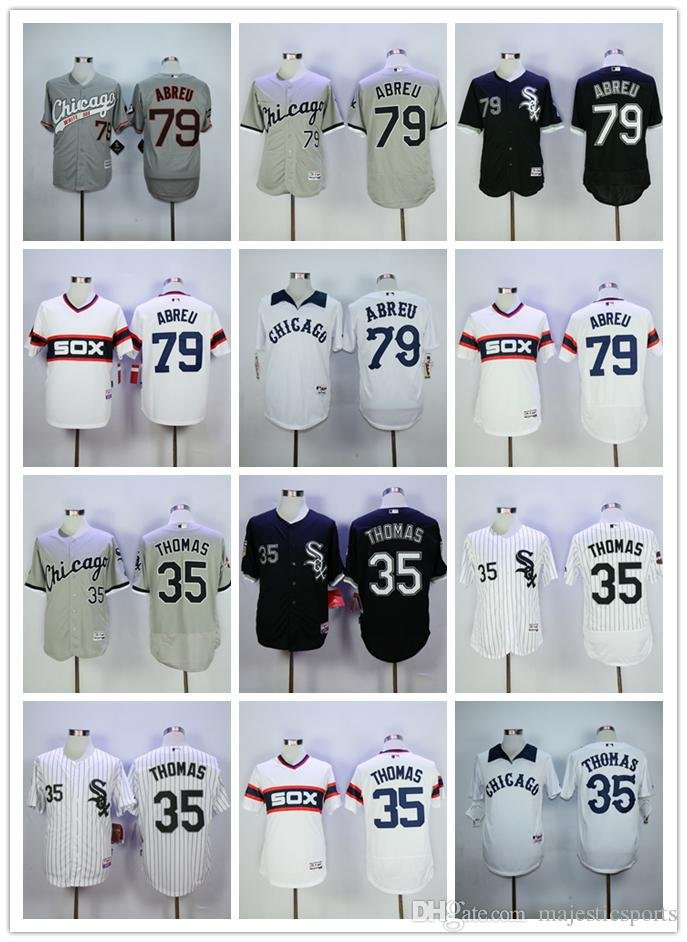 Frank Thomas Jersey Jose Abreu Chicago White Sox Maillot de baseball Flexbase Co