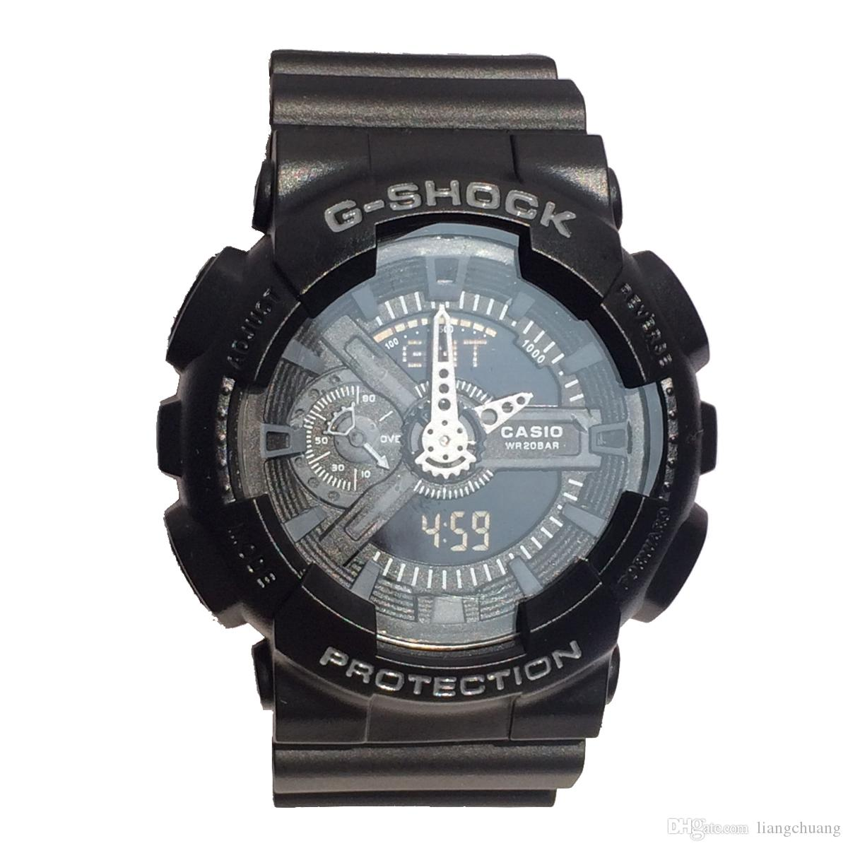 Military grade anti shock film for casio watch g shock analogue digital quartz led alarm sports for Military grade watches