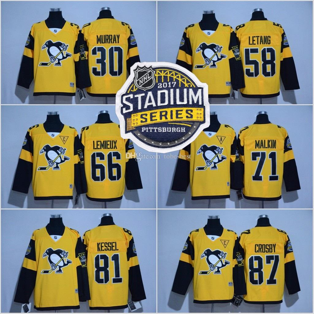 2017 Stadium Series Hockey Jersey Hommes Pittsburgh Penguins 81 Phil Kessel 87 S
