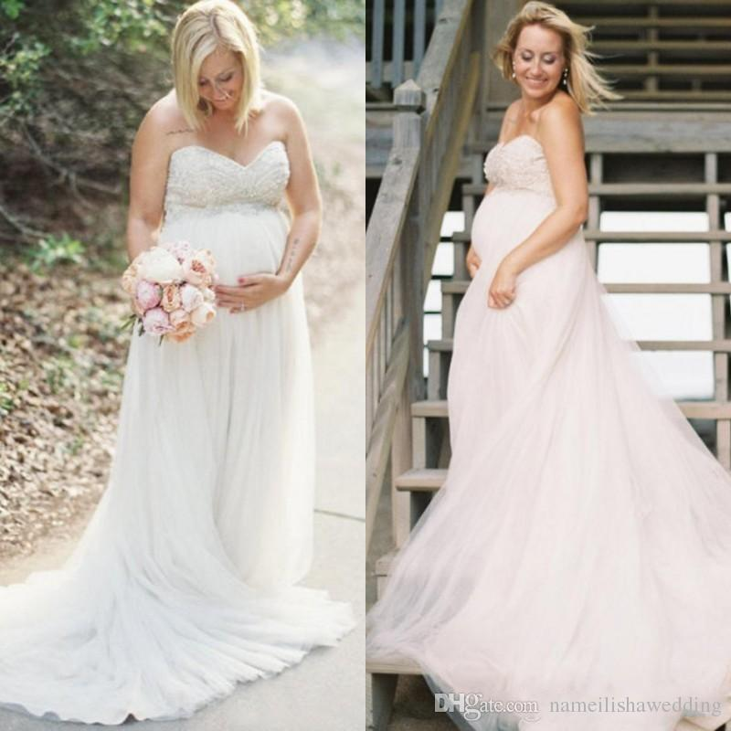 Discount 2017 modest maternity wedding dresses cheap for Plus size maternity wedding dresses cheap