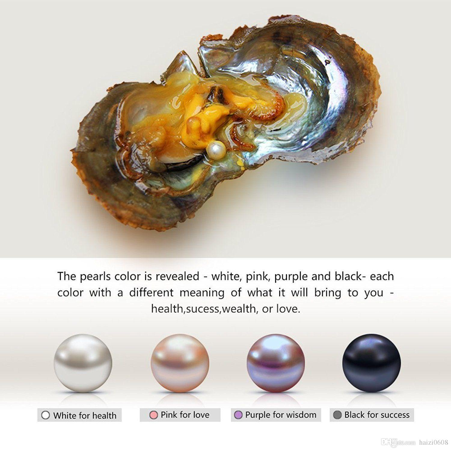 Nouveau 6-7mm Best Wish Pearl Oyster Oval Round Pearl Gift DIY Pearl Pour Pedant