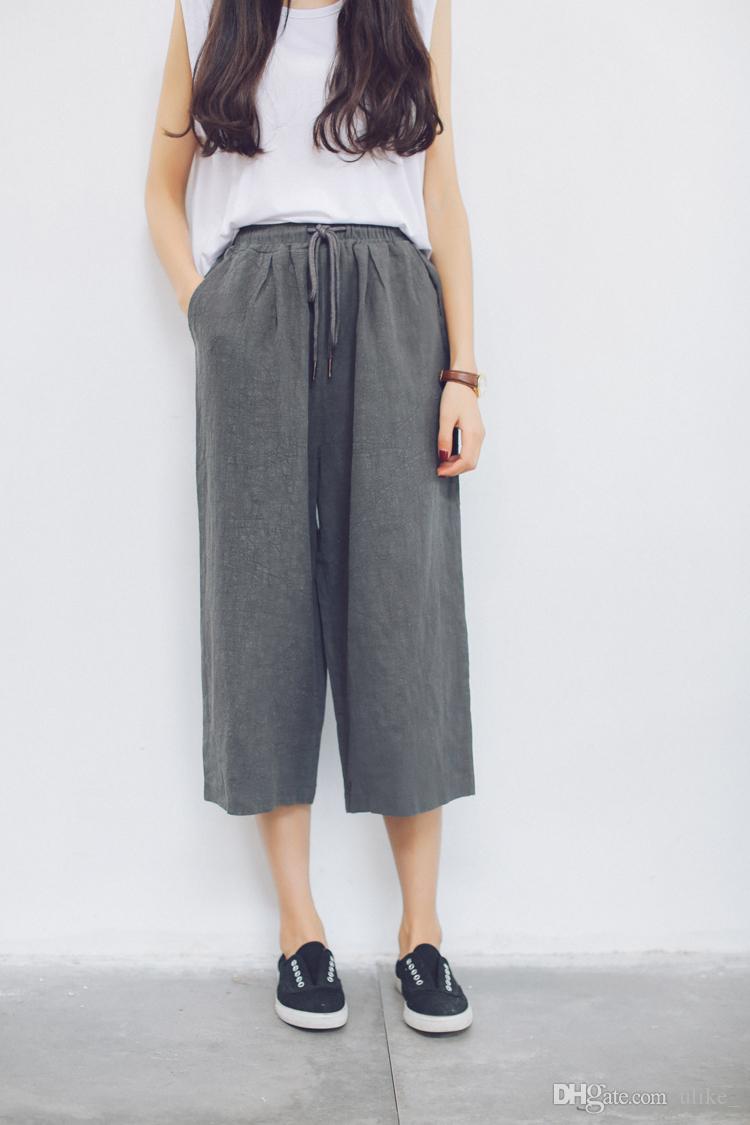 Discount White Linen Wide Leg Pants   2017 White Linen Wide Leg ...
