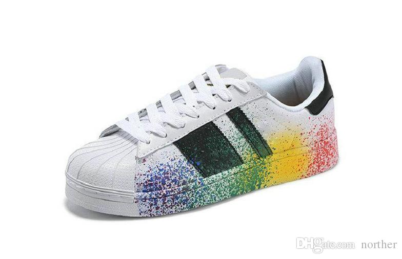 2017 Cheap Wholesale Discount Superstar rainbow New Low Fashion Sneaker Men's & Women's 2016 Foundation Casual Sneaker Shoes Classic