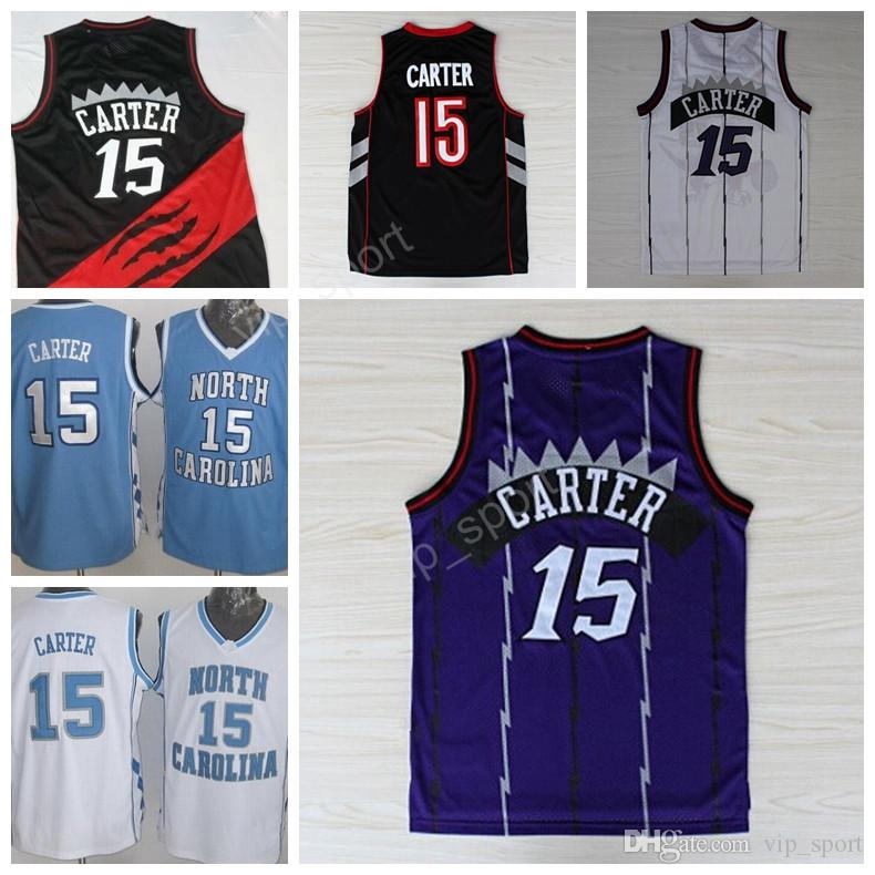 15 Vince Carter Jersey Hommes North Carolina Basketball Vince Carter Collège Mai