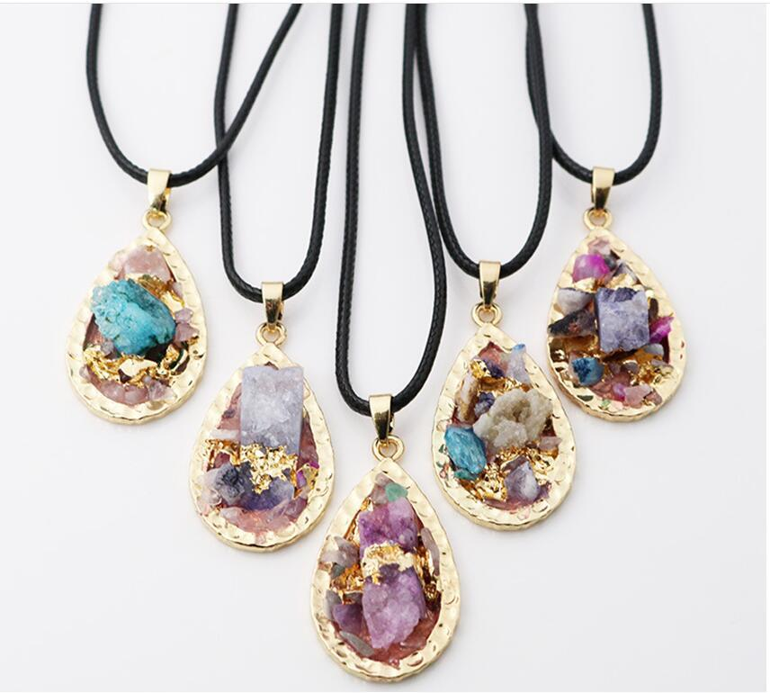 Wholesale 2017 New Crystal Gemstone Water Drop Color ...