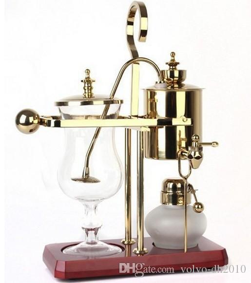 2017 royal belgium coffee maker balancing coffee machine expresso coffee maker silver golden. Black Bedroom Furniture Sets. Home Design Ideas