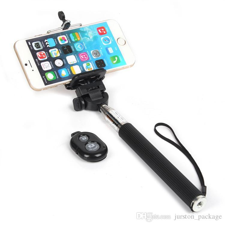 2017 bluetooth 3 in 1 kit set selfie stick remote shutter phone clip monopod for iphone ios. Black Bedroom Furniture Sets. Home Design Ideas
