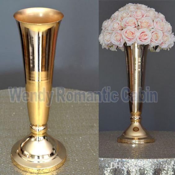Best cm tall wedding flower vase gold stand