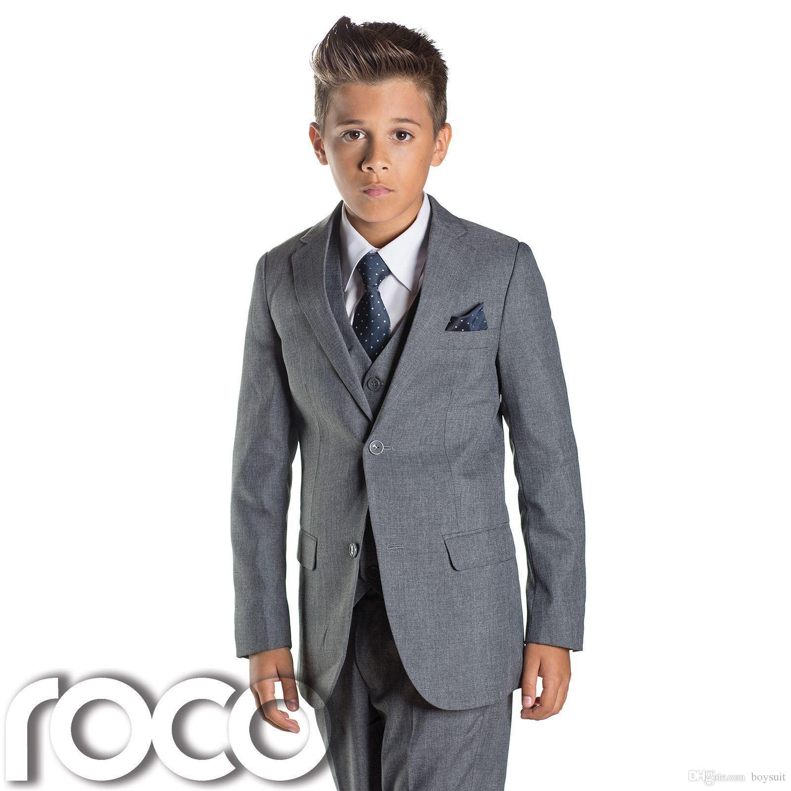 Boys Grey Suit, Slim Fit Suits, Page Boy Suits, Prom Suits, Boys ...