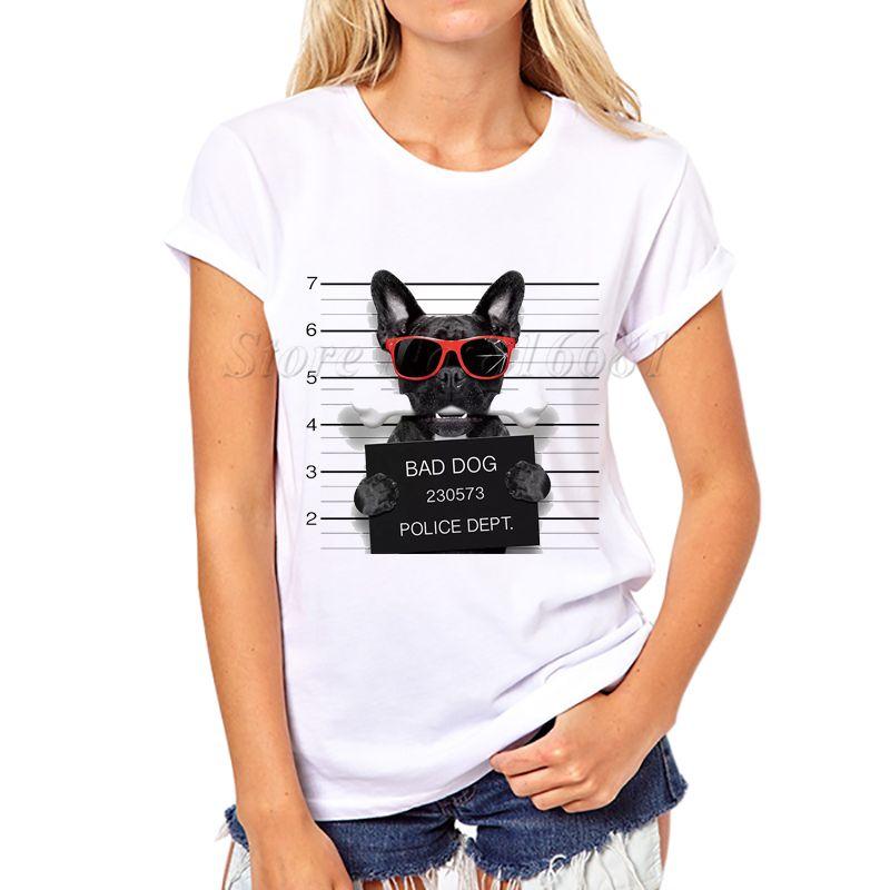 Wholesale 2016 women fashion french bulldog design t shirt for T shirt design wholesale