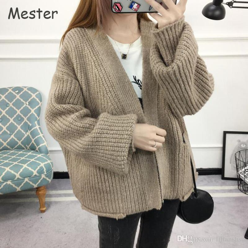 Women Chunky Knitted Cardigan Plus Size Women Clothing Casual ...