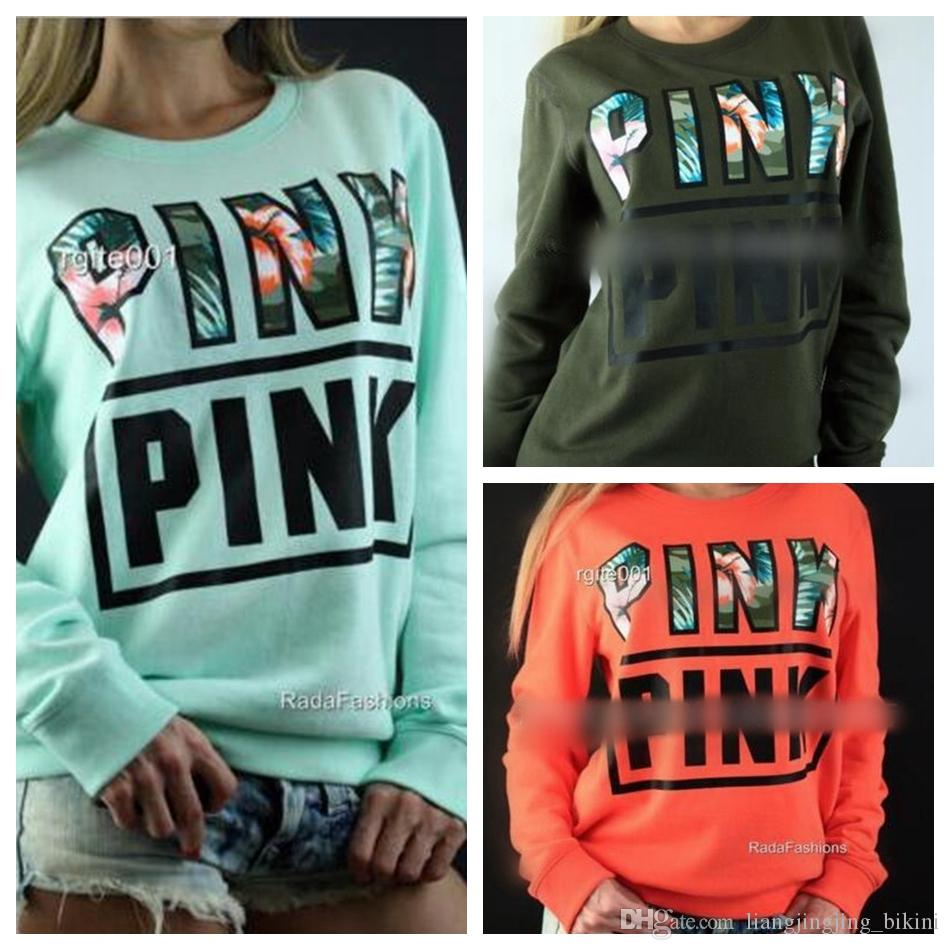 Vs Pink Hoodies Harajuku Women Fitness Kawaii Sweatshirts Pink ...