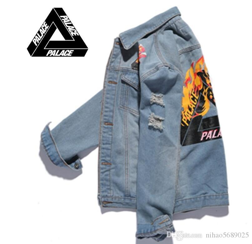 Flame Cher Jeans Fire Hommes White Off Veste Pas Palace Triangle wpBxUS1pq