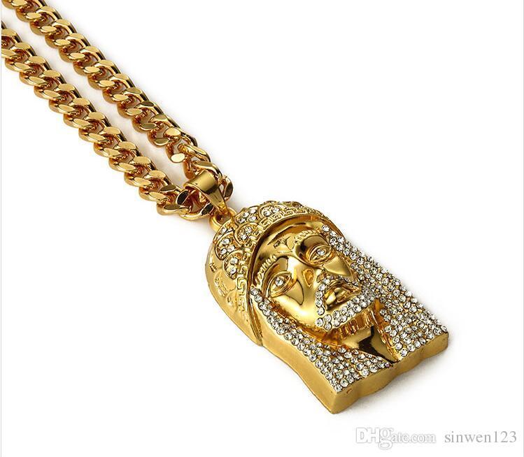 Dj Jesus Men Hip Hop Jewelry Long Necklace 18k Real Gold Filled
