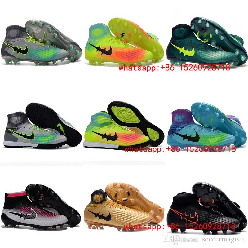 2017 White Mens Indoor Soccer Shoes Cleats Boots Football Shoes ...