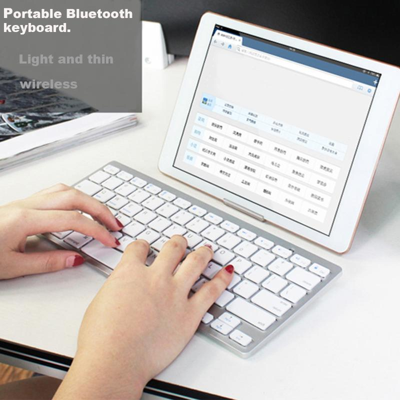 External Bluetooth Keyboard For Android Phone: Ultra Thin Bluetooth Wireless Keyboard / Notebook Computer Cell Phone Tablet Android For Iphone