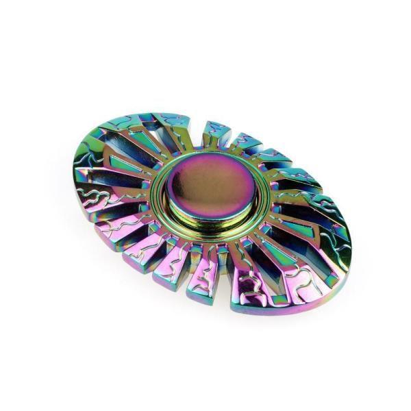 Creative rainbow hot wheel fidget spinner rainbow for Fish fidget spinner