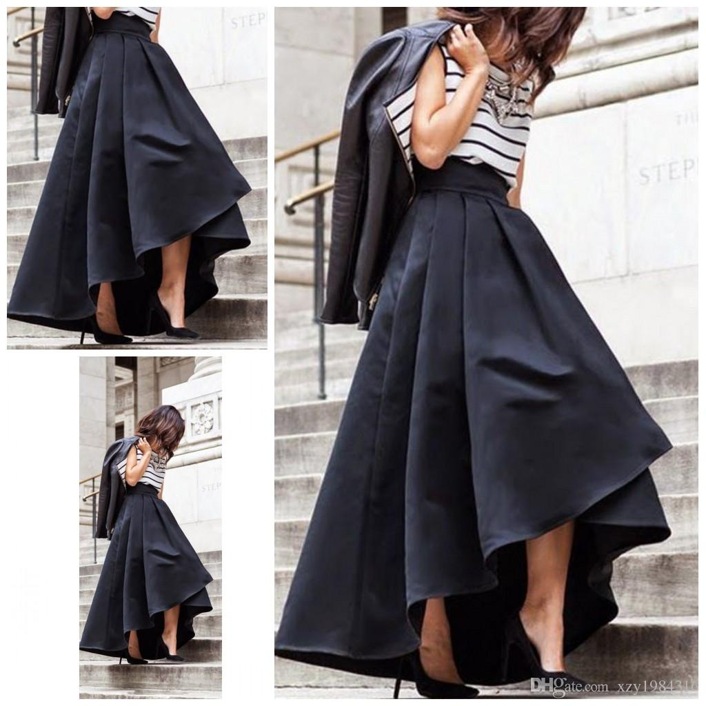 2017 Latest Arrival Satin Long Skirts Street Style Fashion Week ...