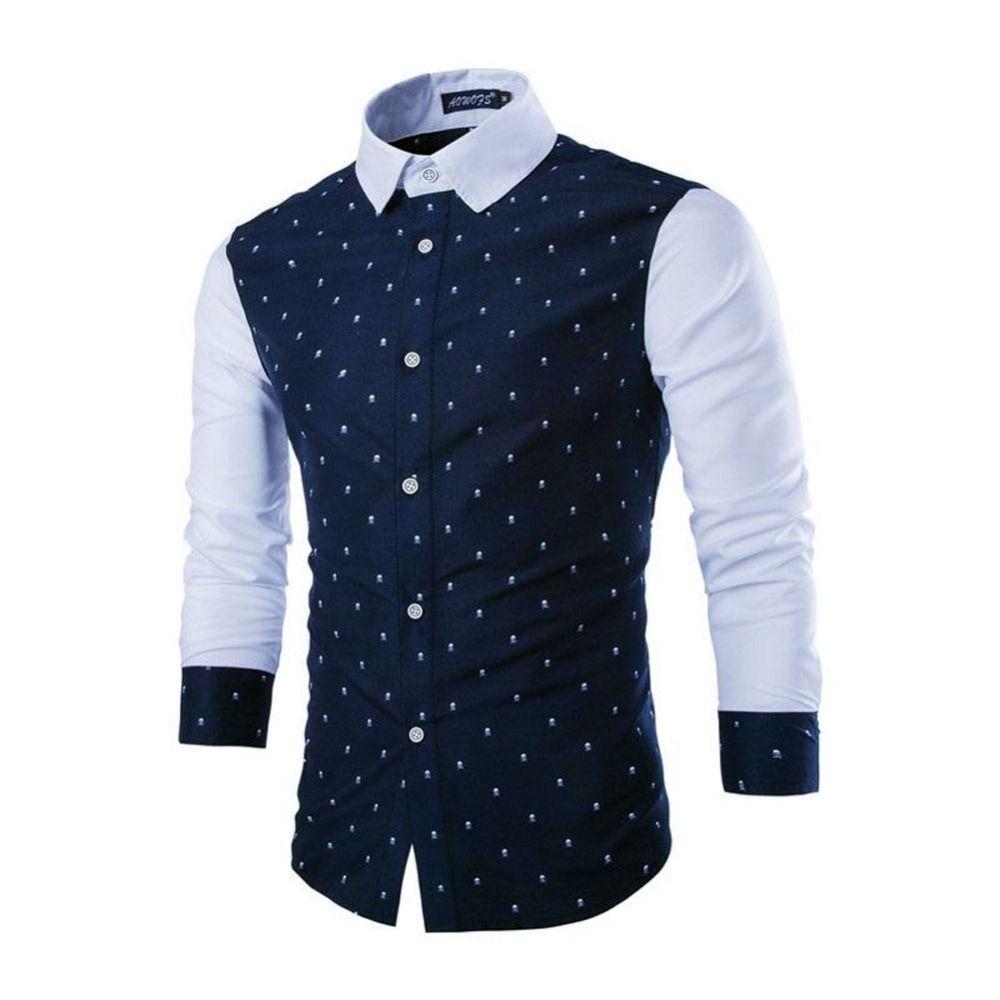 2017 Wholesale Mens Skulls Pattern Casual Shirts Men 39 S