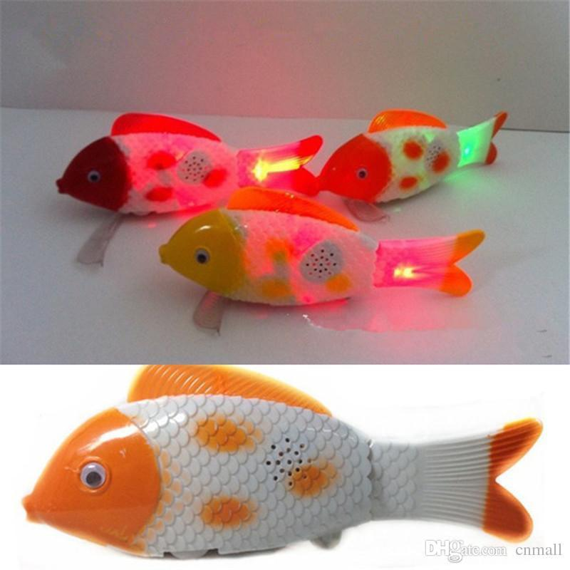 2017 led glowing fish toy flash electric toy unisex for Talking fish toy