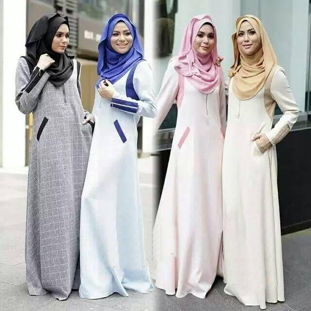 Fashion Style Strpied Malaysia Jubah Muslimah Women