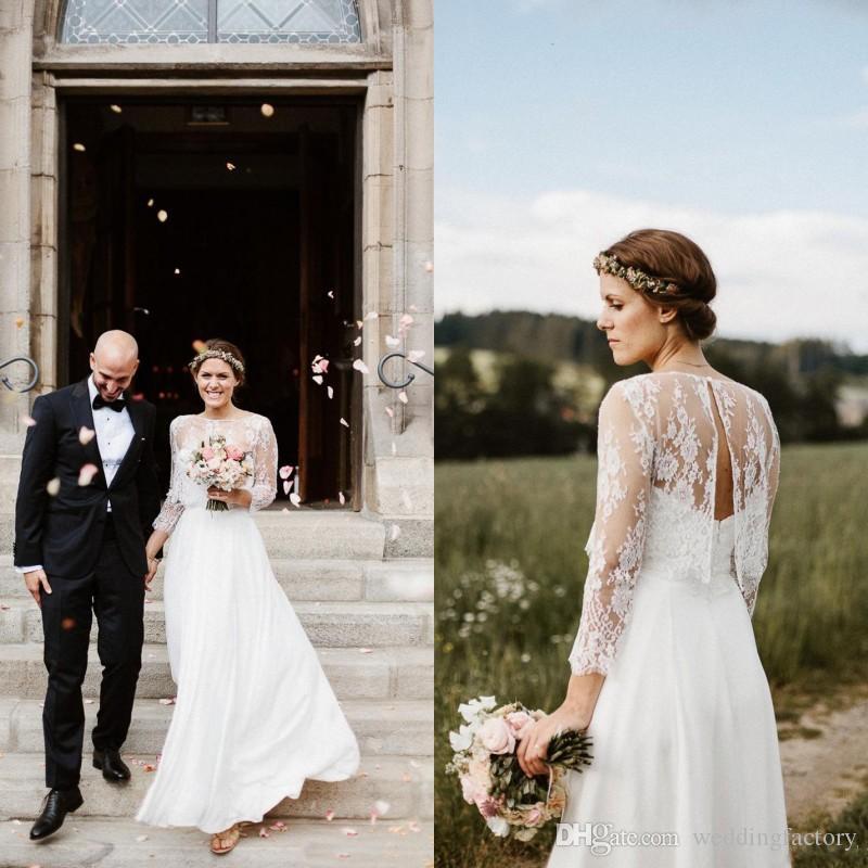 Romantic Country Beach Wedding Dresses Simple Elegant