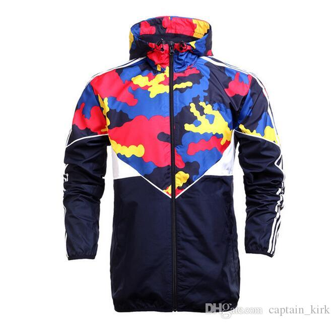 Fall-Hot! New Men Jacket Spring / Autumn Patchwork Reflective Silm Jacket Sport