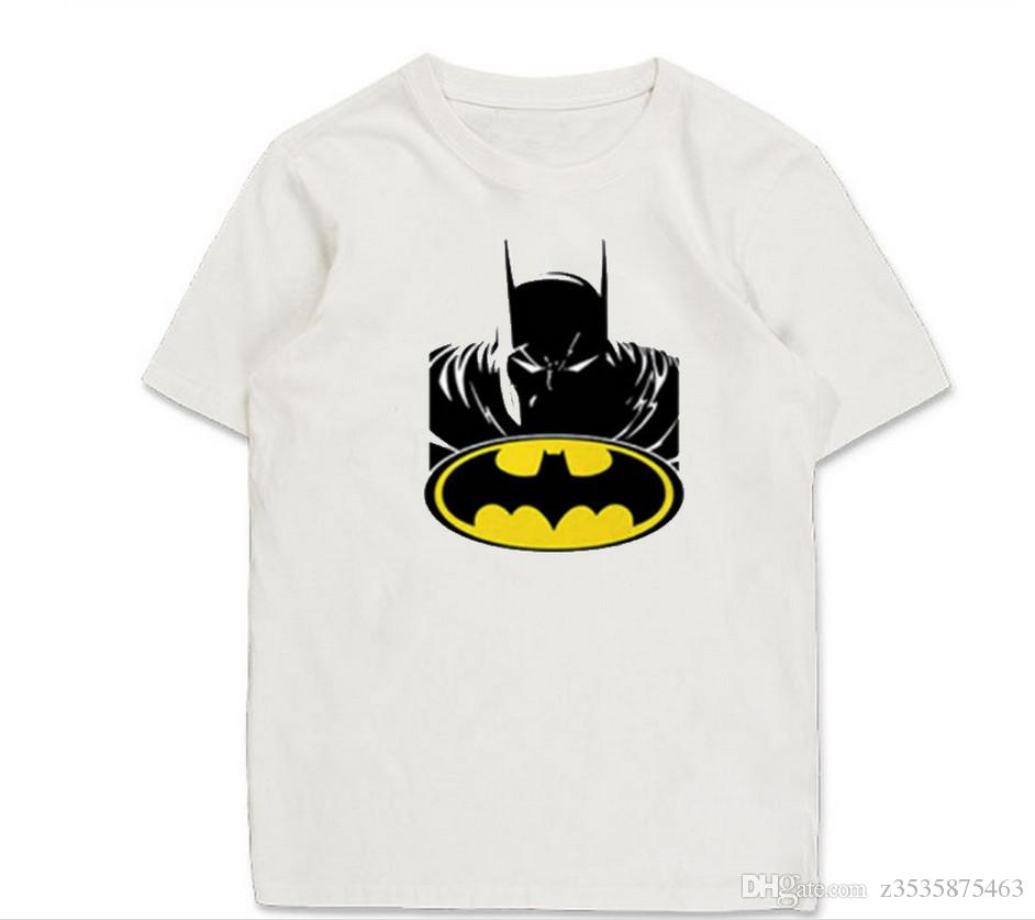 Shirt design online uk - Vogue Of New Fund Of 2017 Cotton Men Hot Style Batman Design Printing On Men S Fashion T Shirts Wholesale High Quality Sent Free Of Charge