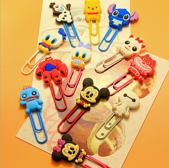 Wholesale-Cute Cartoon Characters Paper Clip Bookmark Promotional ...
