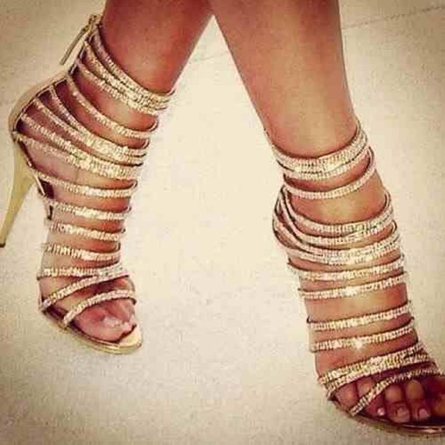 White Flat Peep Toe Shoes