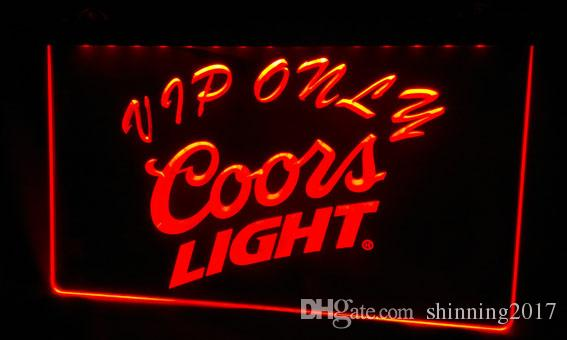 LS477-g Coors VIP Only Bar Beer Neon Light Sign Decor Livraison gratuite Dropshi