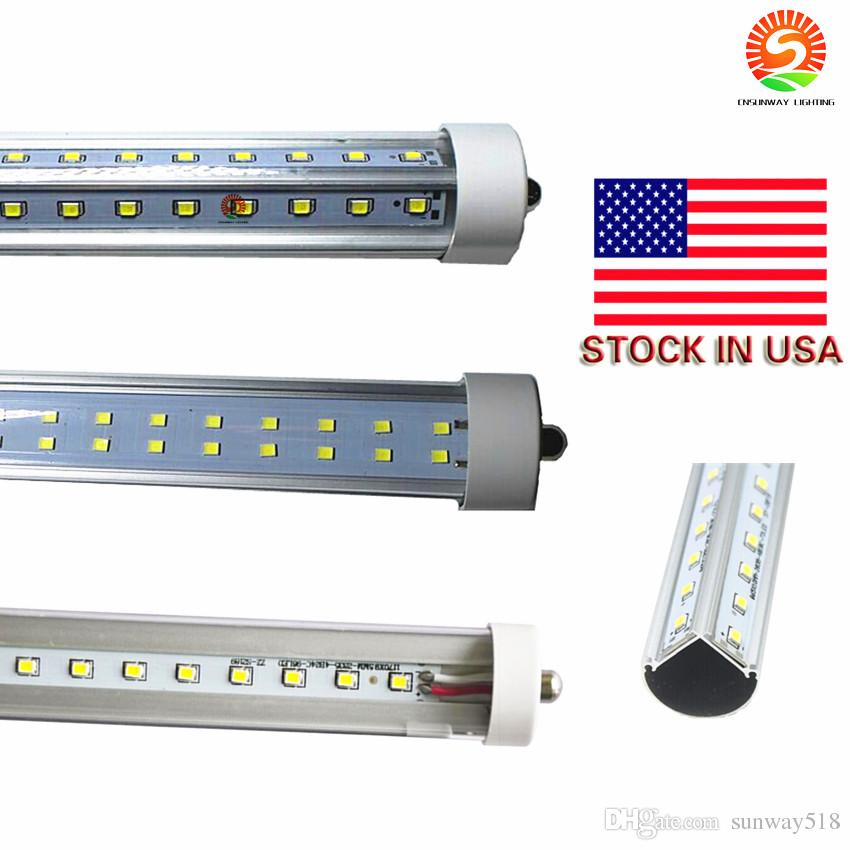 Lumières LED tube 8ft T8 FA8 Single Pin LED Tube Lights 45W 72W Ampoules SMD 283