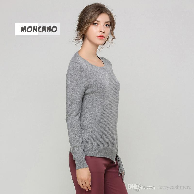 MONCANO 2017 New Fashion Loaded 100% Pure Cashmere Pullover Slim ...