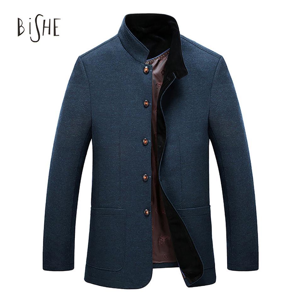 2018 wholesale winter coat men england style jacket men thick woolen winter coat casual fashion. Black Bedroom Furniture Sets. Home Design Ideas