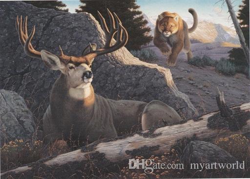 2018 Ambush By Tom Mansanarez Mule Deer Mountain Lion