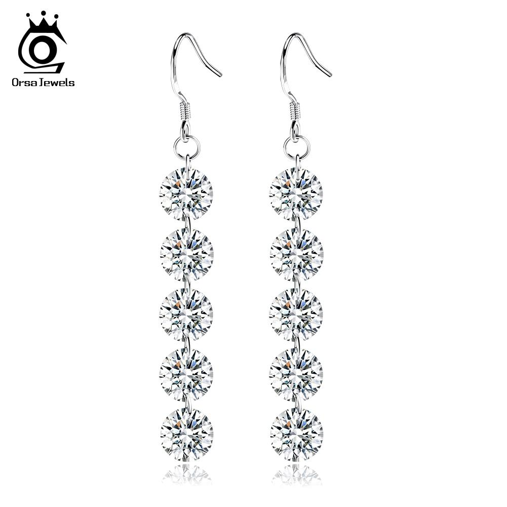 ORSA JEWELS New Arrival Luxe Naked Austria Crystal Earring Big Fashion Jewelry D