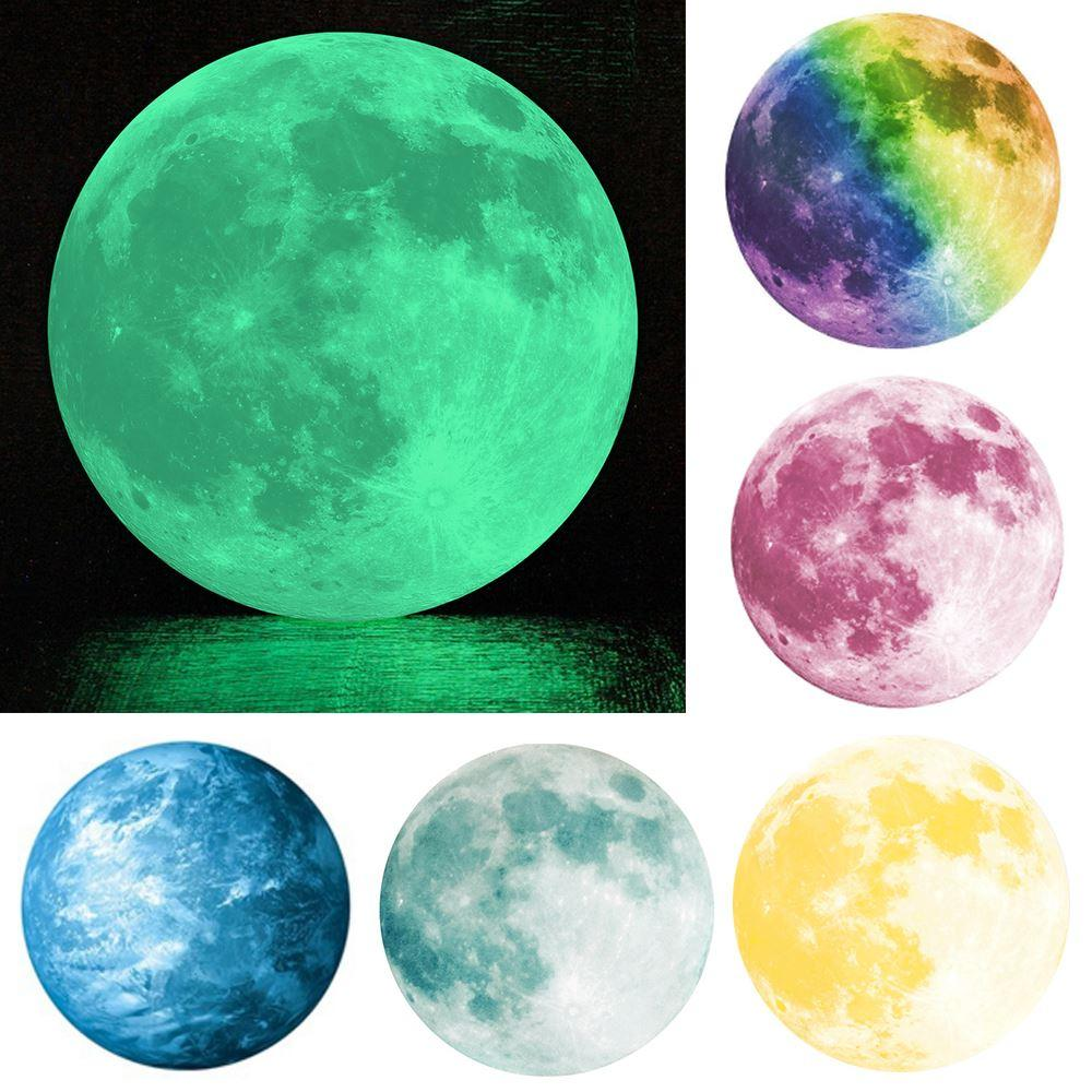 many color round the moon glowing wall post fluorescence luminous see larger image