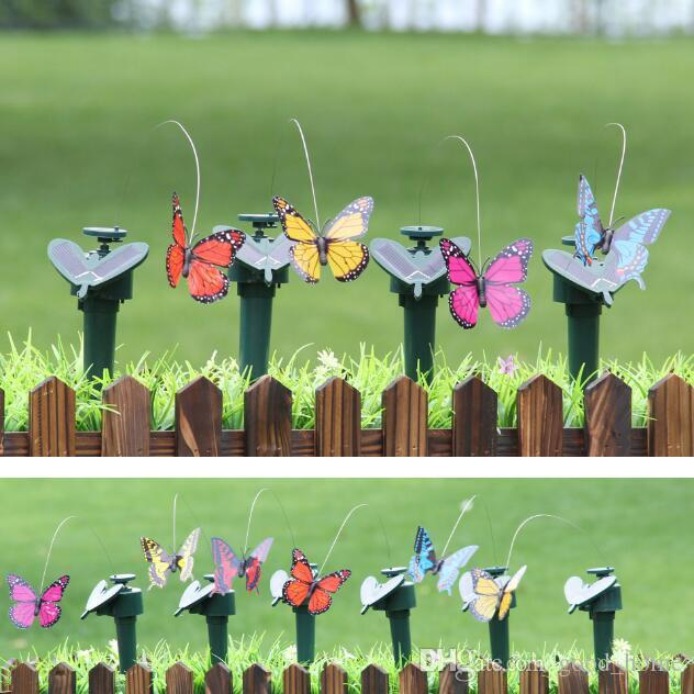 Home And Garden Decor Ornaments Simulation Spinning Flying Butterfly With  Solar Energy Butterfly Garden Decoration CCA6795 Solar Butterfly Garden ...