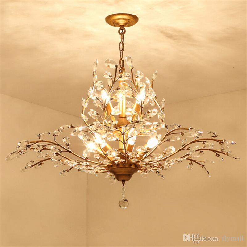 Modern Branch Pendant Lights Crystal Chandeliers Pendant