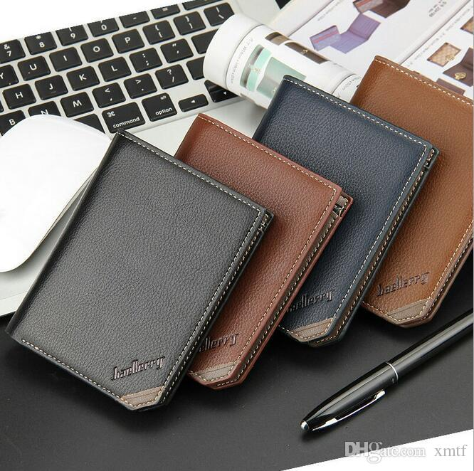 male designer wallets 9ywn  New Arrival 2016 Man Small Wallets Famous Brand Male Designer PU Leather  Men's Purses Mini Wallet