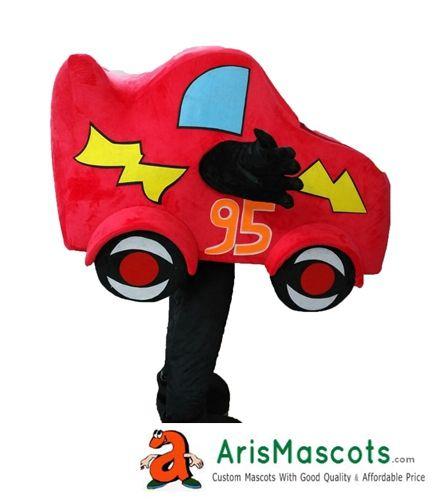100 real photos lovely red lighting racing car mascot costume cartoon mascots fancy dress costumes kids carnival party dress red lighting racing car mascot