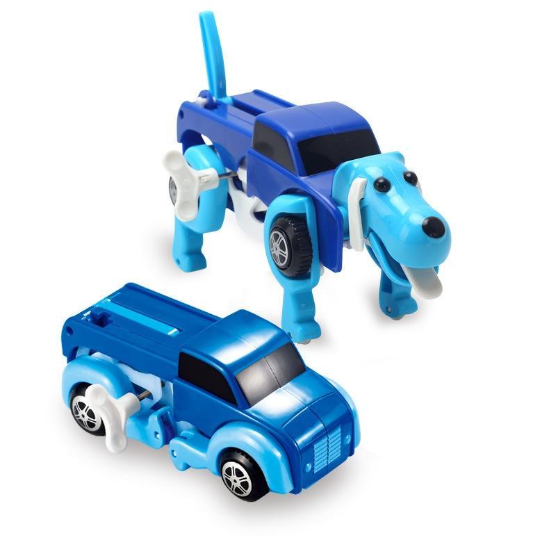 12cm cool automatic transform dog car vehicle clockwork wind up toy for children kids boy girl car toy gift automatic car online shopping online with