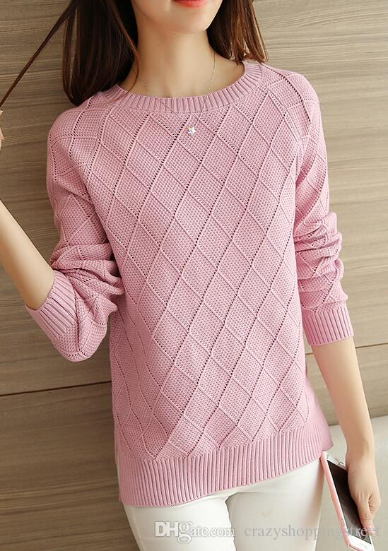 2017 High Quality Cashmere Sweater Women Winter Pullover Solid ...