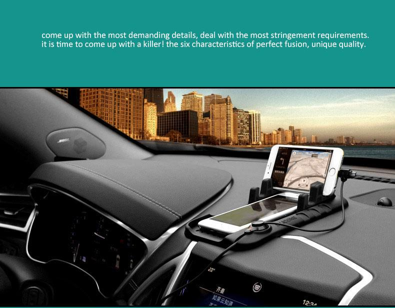 universal car holder pad and stand holder with charging usb cables and magnetic absorption charging cable to charging android apple phone