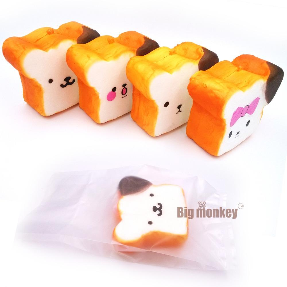 Squishy shop sale - Hot Sell Kawaii Expression Squishy Jumbo For Sale Rilakkuma Squishy Toast Super Slow Rising Squeeze Toy 10cm Slow Rising Squishy Phone Charm Online With