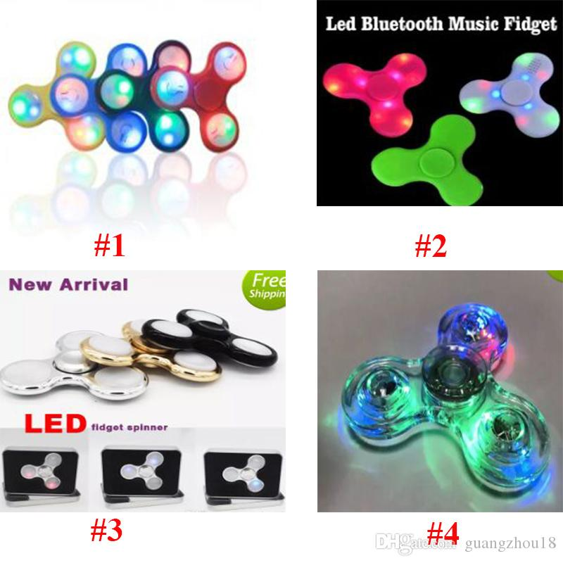 2017 Nouveau LED Dollar Light Hand Spinners Fidget Spinner Triangle de qualité s