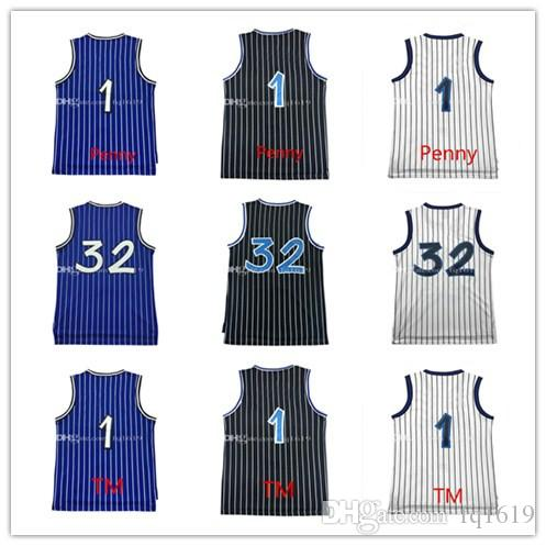 Brand new 1 Penny Hardaway Jersey 100% cousu 32 Shaquille O'neal Jersey 1 Tracy