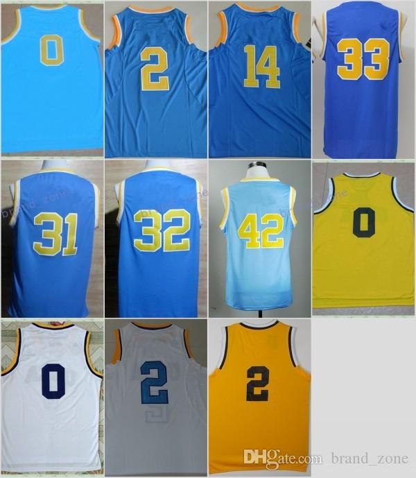 beffa7f7a9c7 ... Discount UCLA Bruins College Basketball Jerseys 0 Russell Westbrook  Blue White 2 Lonzo Ball 14 Zach ...