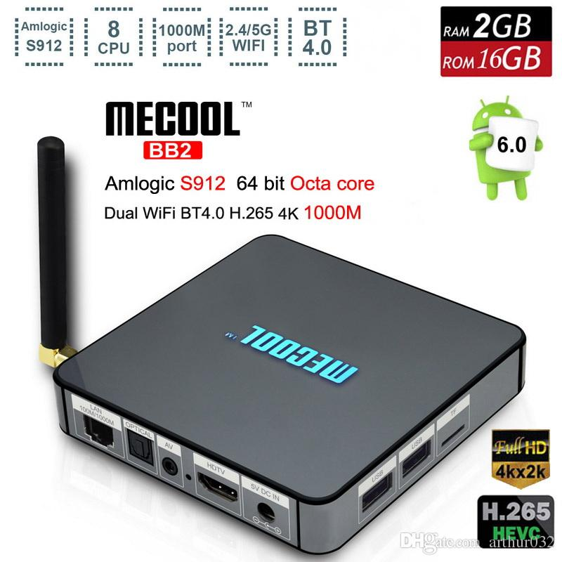 Amlogic S912 Octa Core TV Box Android 6.0 Marshmallow 2G 16G 2.45G WiFi Bluetoot