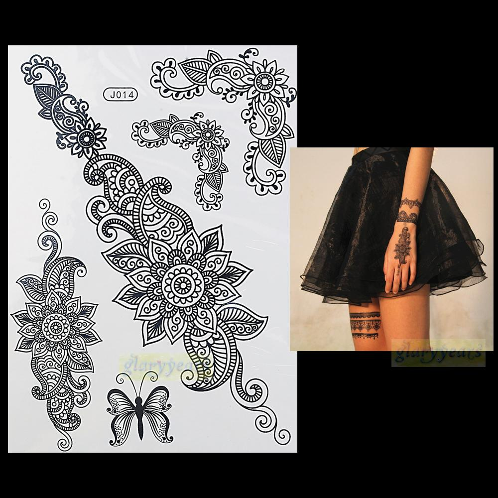 Wholesale fashion flash waterproof tattoo women black for Wholesale temporary tattoos